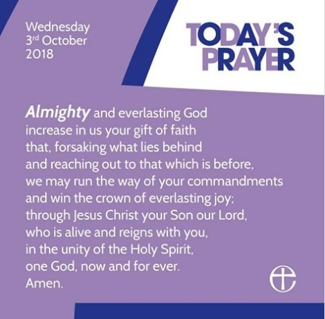 Church of England Prayer - posted 03.10.18